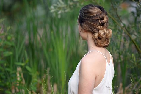 cute girl hairstyles knotted braid knotted braid updo cute girls hairstyles