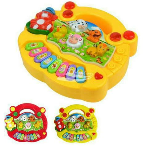 Mainan Bayi Piano Animal Farm piano animal farm mainan anak edukasi balita baby