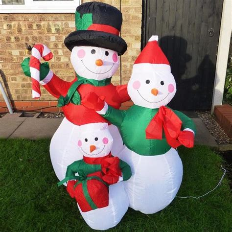 large lighted outdoor decorations large outdoor snowman decorations