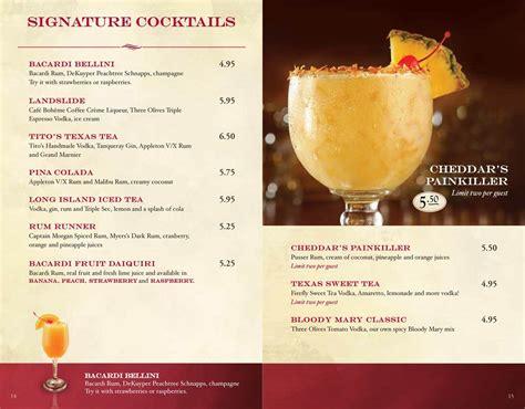 cheddars lincoln ne menu cheddars drink menumenu world menu world