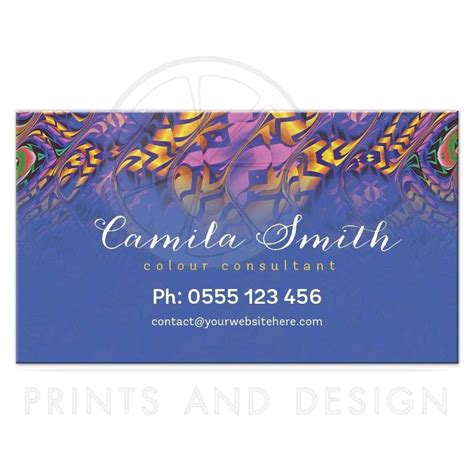 color consultant tropical color consultant business cards