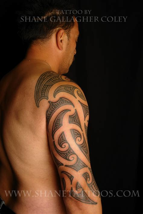 shane tattoo shane tattoos maori sleeve ta moko