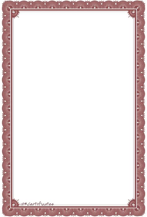 Free Certificate Borders To Download Border Template