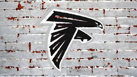 atlanta falcons logo painted  brick wall  hd