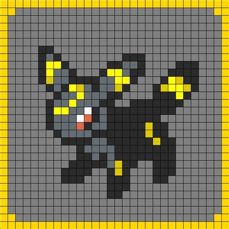 umbreon pixel template umbreon coaster set 8 perler bead pattern bead
