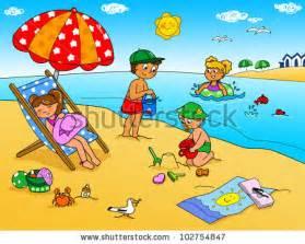 stock images similar id 33017701 kids sunbathing towels