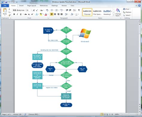 flowchart with word create flowchart for word