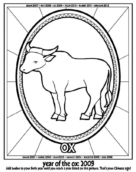 crayola coloring pages horses chinese new year year of the ox crayola ca