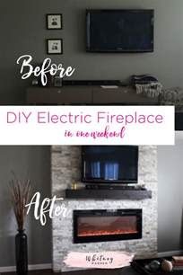 electric fireplace diy diy how to build a fireplace in one weekend