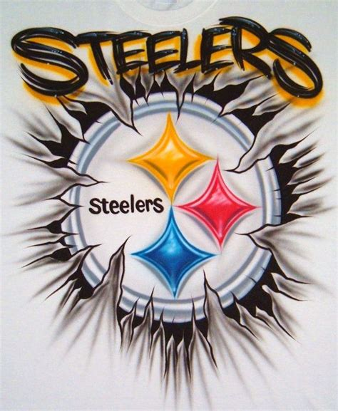 custom airbrush t shirt steelers pittsburgh steelers