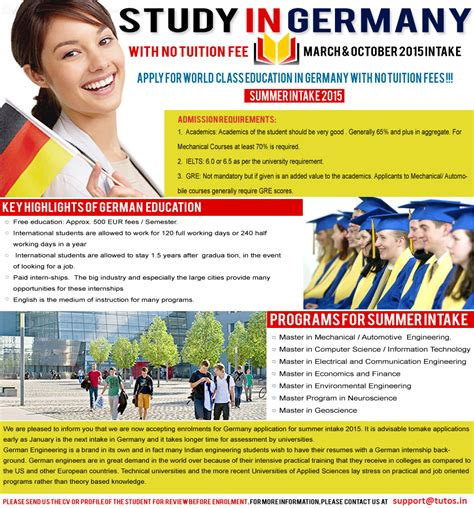 Mba In Information Technology Germany by Study In Germany Mba And Ms From Germany Tutos