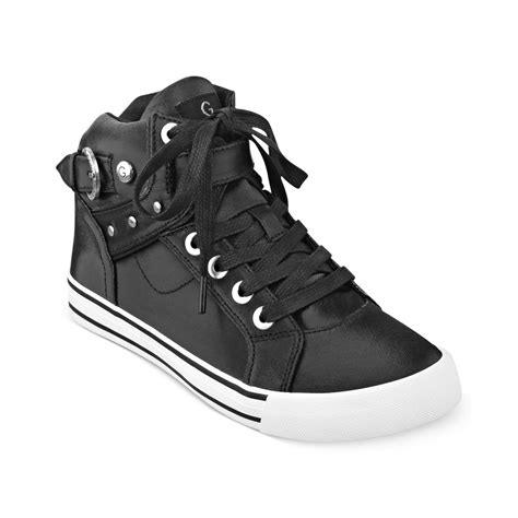 guess high top sneakers g by guess high top sneakers in black lyst
