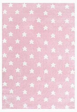 teppich kinderzimmer rosa kinderteppich sterne rosa haus deko ideen