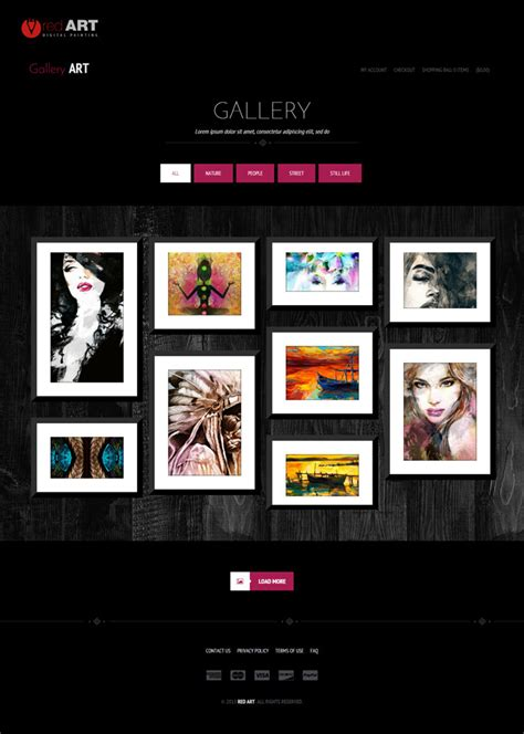 gallery html template gallery website clipart free