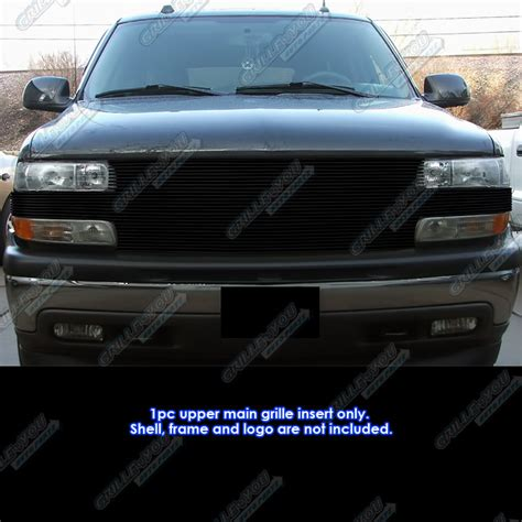99 02 chevy silverado 1500 00 06 suburban tahoe black billet grille grill insert ebay