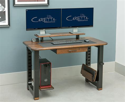 desk add on shelf loft desktop riser shelf black walnut caretta workspace