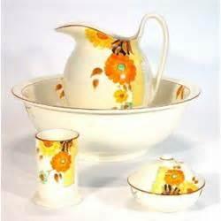 bathroom jug and bowl set hand painted crown devon four piece bathroom set