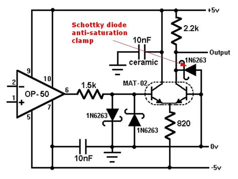 schottky diode turn on time switches how do i make the turn and turn on time equal in a npn transistor electrical