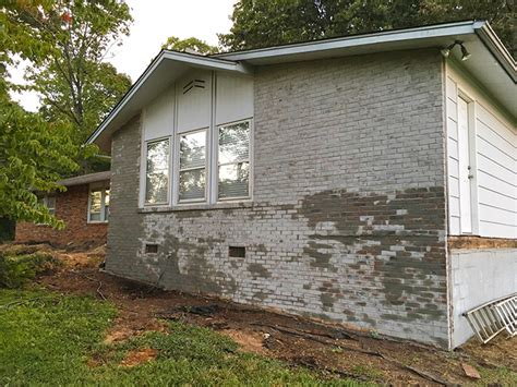 Color Washing Techniques - how to do a german smear mortar wash on brick dave and brittany s fixer upper less than