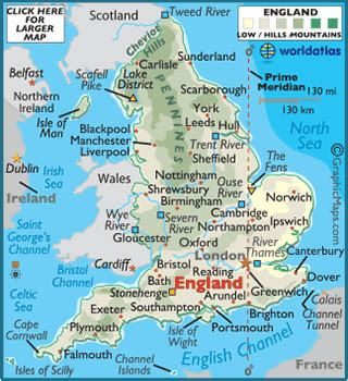 England World Map by England Map Geography Of England Map Of England