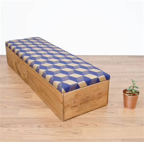 upcycle ottoman upcycled wine crate ottoman bedroom storage by made anew