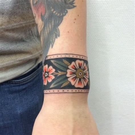 tattoo trends ankle band old school traditional flower 65 adorable wrist tattoos all women should consider