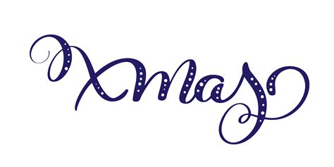 xmas blue vector calligraphic lettering text  design