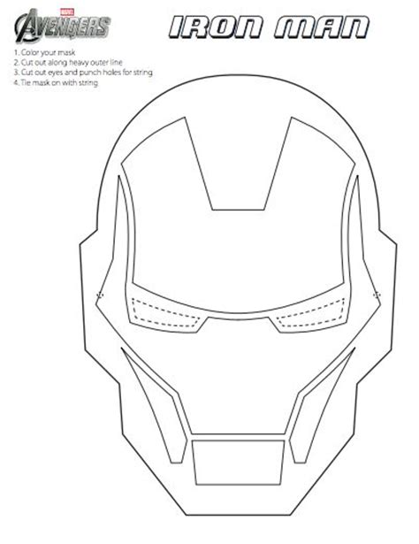 printable mask avengers diy the avengers mask printables fun marvel the avengers