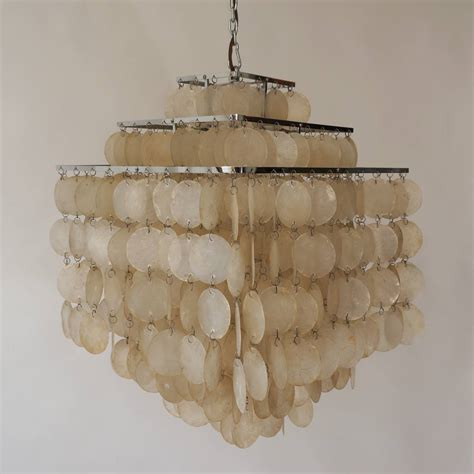 capiz shell chandelier by verner panton for sale at 1stdibs