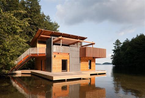 muskoka boathouse christopher simmonds architect archdaily