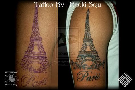 paris tattoo designs eiffel tower enoki soju enokisoju deviantart