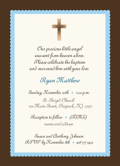 baptism invites templates baby boy baptism invitation boy or baby boy
