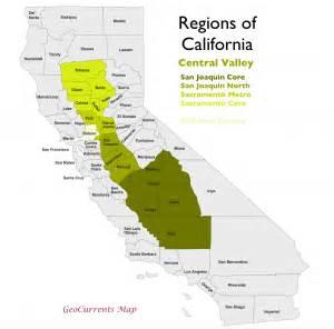 map of san joaquin valley california the regionalization of california part 2 geocurrents