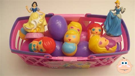 Telor Princess Pretty Egg opening disney princess egg basket eggs filled with toys and