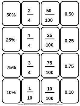 printable decimal number cards fractions times tables a4 and tables