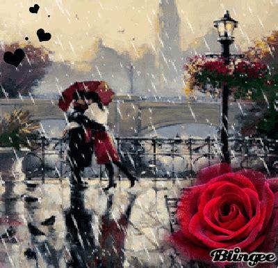 imagenes anime bajo la lluvia beso bajo la lluvia picture 130311489 blingee com