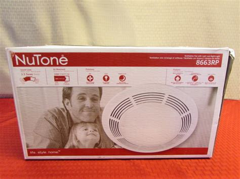 nutone bathroom fan installation instructions lot detail new in box nutone ventilation fan with light