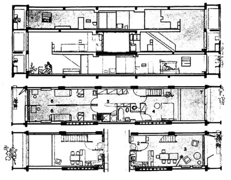le corbusier unit 233 d habitation plan arquit