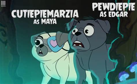 pug voice pewdiepie cutiepiemarzia voice animated pugs in web series