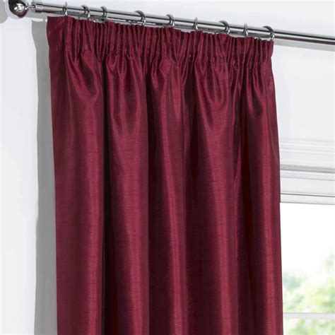 red faux silk curtains blackout curtains red faux silk pencil pleat blackout