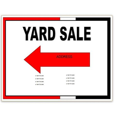 yard sale template find free flyer templates for word 10 excellent options