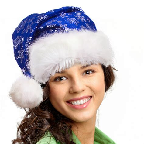 put blue santa hat on photo online using santa hat editor