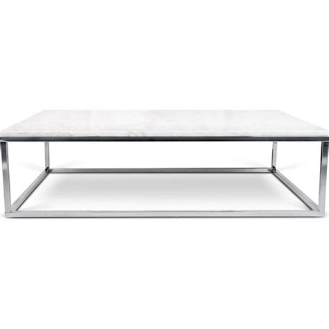 White Marble Coffee Table Temahome Prairie 47x30 Marble Coffee Table White Marble Top Chrome Legs 059042 Prairie47mar