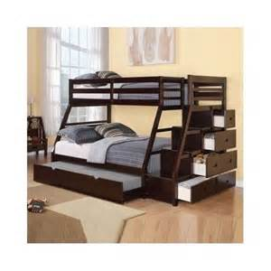 Futon Bunk Beds For Adults Bunk Beds W Trundle Stairway Chest Bed Home Furniture Ebay