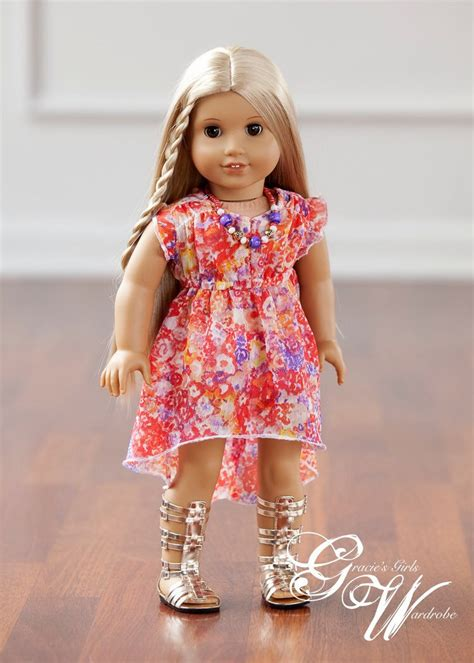 girls clothing etsy american girl doll clothes woomera high low dress and