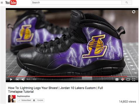 how to customize shoes how to paint lightning effect on custom sneakers