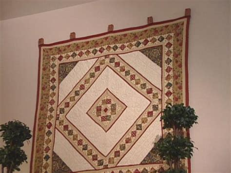 Quilt Hanger For Wall by How To Make A Quilt Cl Hanger Hgtv