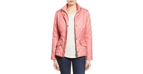 Barbour Pink Quilted Jacket by Barbour Flyweight Cavalry Quilted Jacket In Pink Lyst