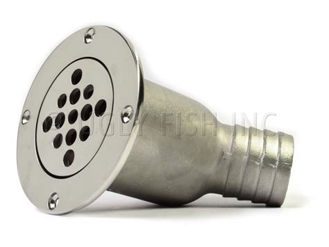 boat deck drain fittings southco shower deck drain with a 45 194 176 1 5 quot barb hose fitting