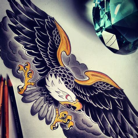 eagle tattoo deviantart trad american eagle tattoo by swishalol on deviantart